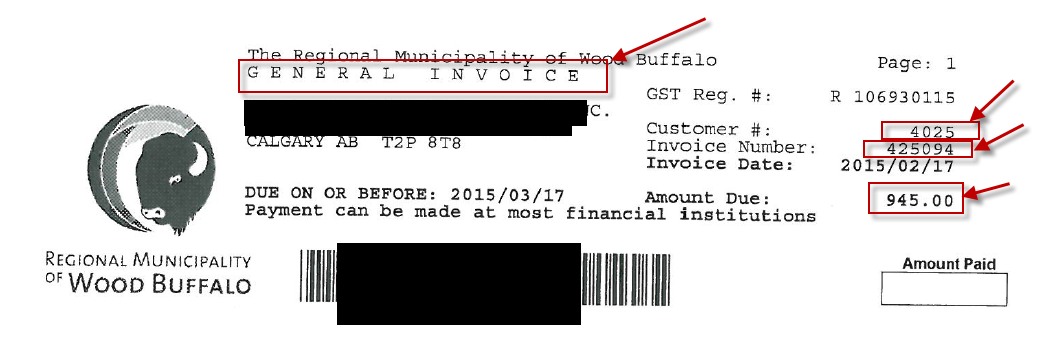 General Invoice Sample
